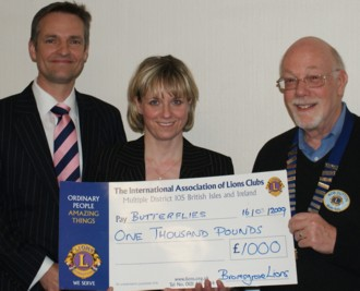 Consultant Surgeon Guy Stern and Sue Troth from Butterflies with Lion President Rob Dutton, 2009